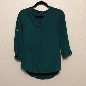 FREE w/Purchase Sweet Rain Green Chiffon Popover
